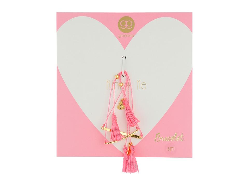 gorjana - Mini + Me Tassel Bracelet Set (Pink) Bracelet