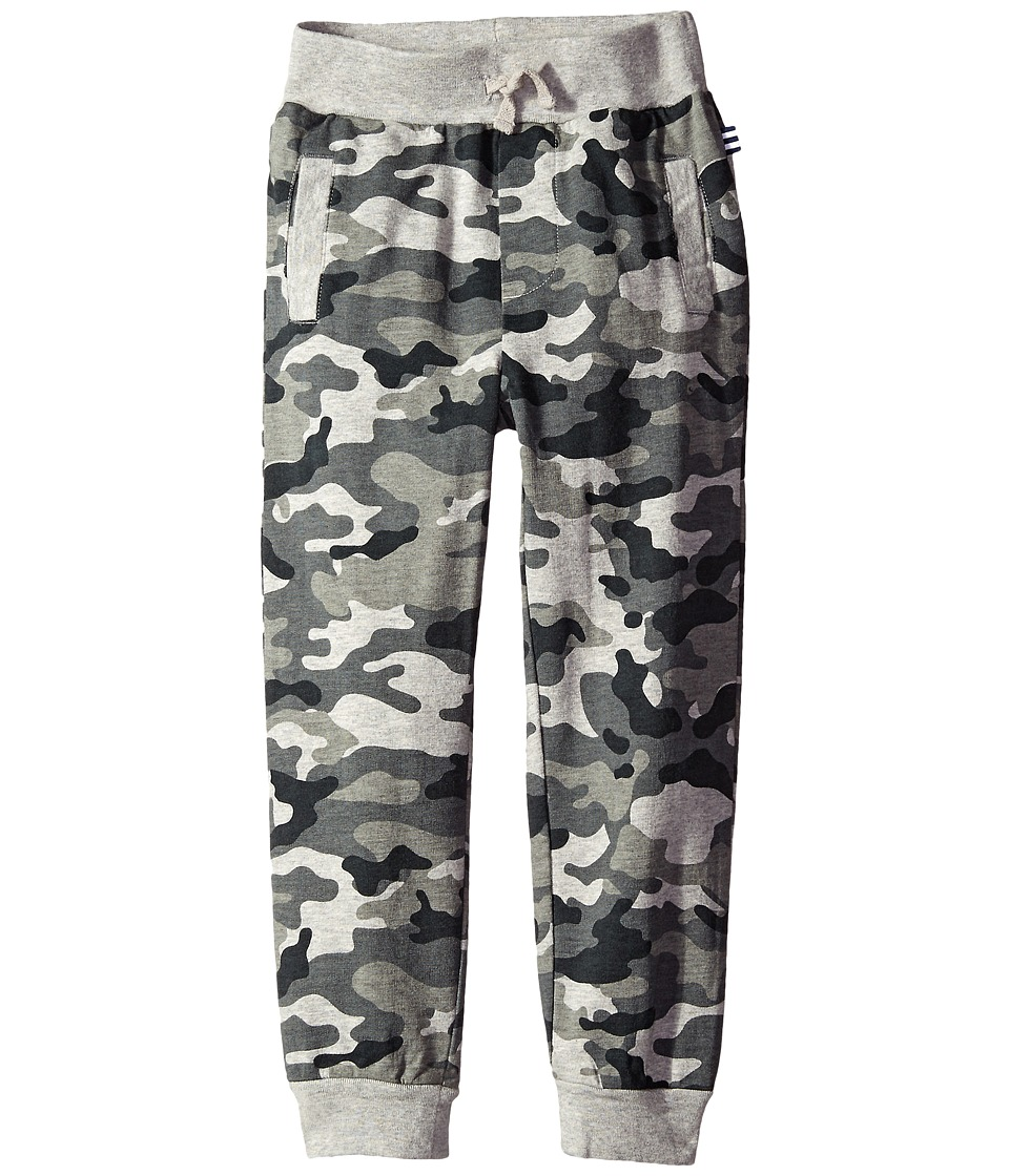 Splendid Littles - French Terry Jogger with Printed Camo (Little Kids) (Grey Heather) Boy's Casual Pants
