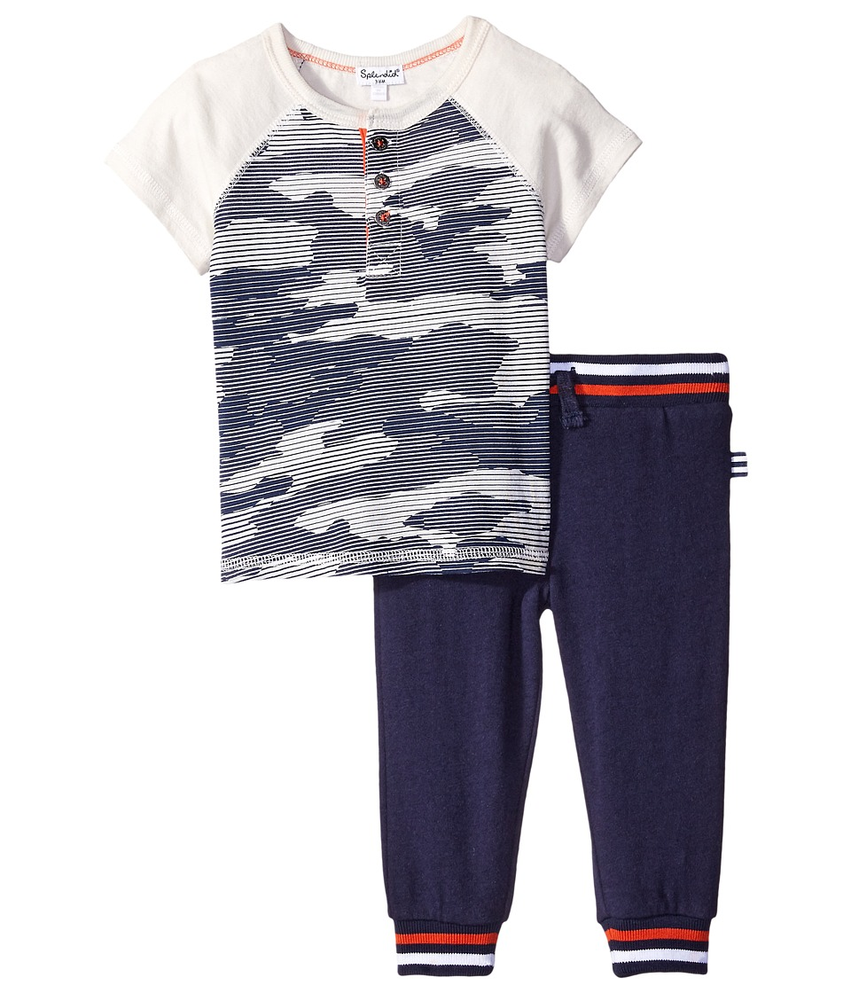 Splendid Littles - Modal Jersey with Printed Camo (Infant) (Print) Boy's Suits Sets