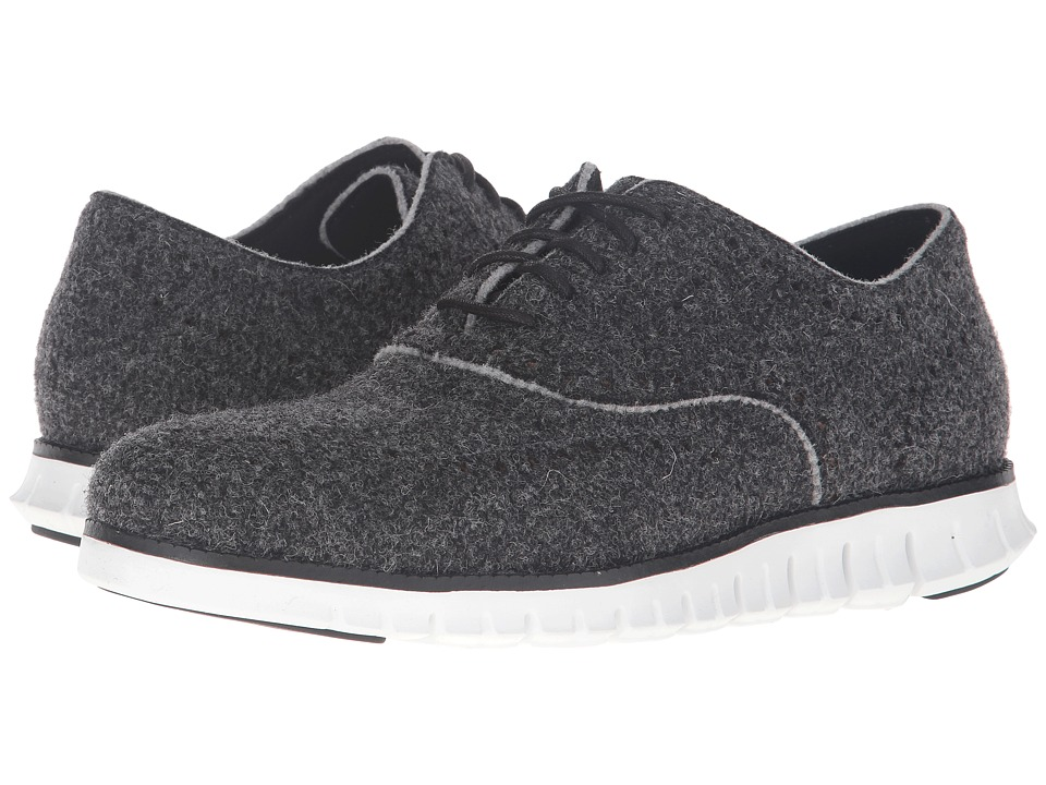 Cole Haan - Zerogrand Short Wing - Wool Closed (Black Wool/Optic White) Men's Lace up casual Shoes