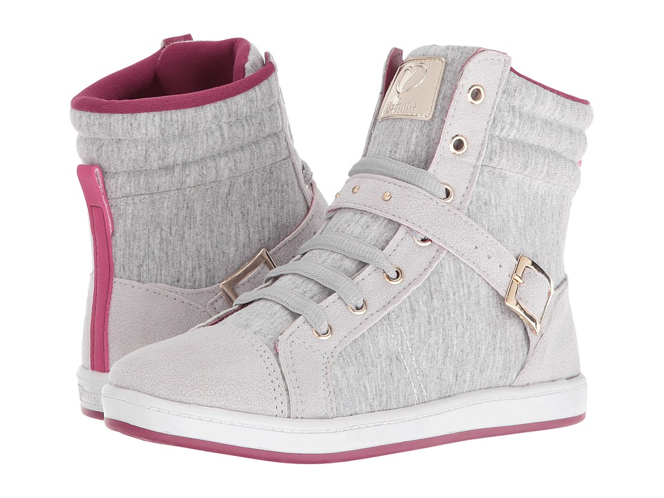 Pampili - Miss 117.025 (Little Kid/Big Kid) (Grey/Cherry) Girl's Shoes