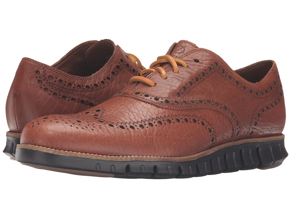 Cole Haan - Zerogrand Wing Oxford (Woodbury Leather/Chestnut) Men's Lace up casual Shoes