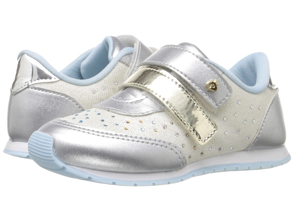 Pampili - Mini Joy 135.001 (Infant/Toddler) (Silver/Blue) Girl's Shoes
