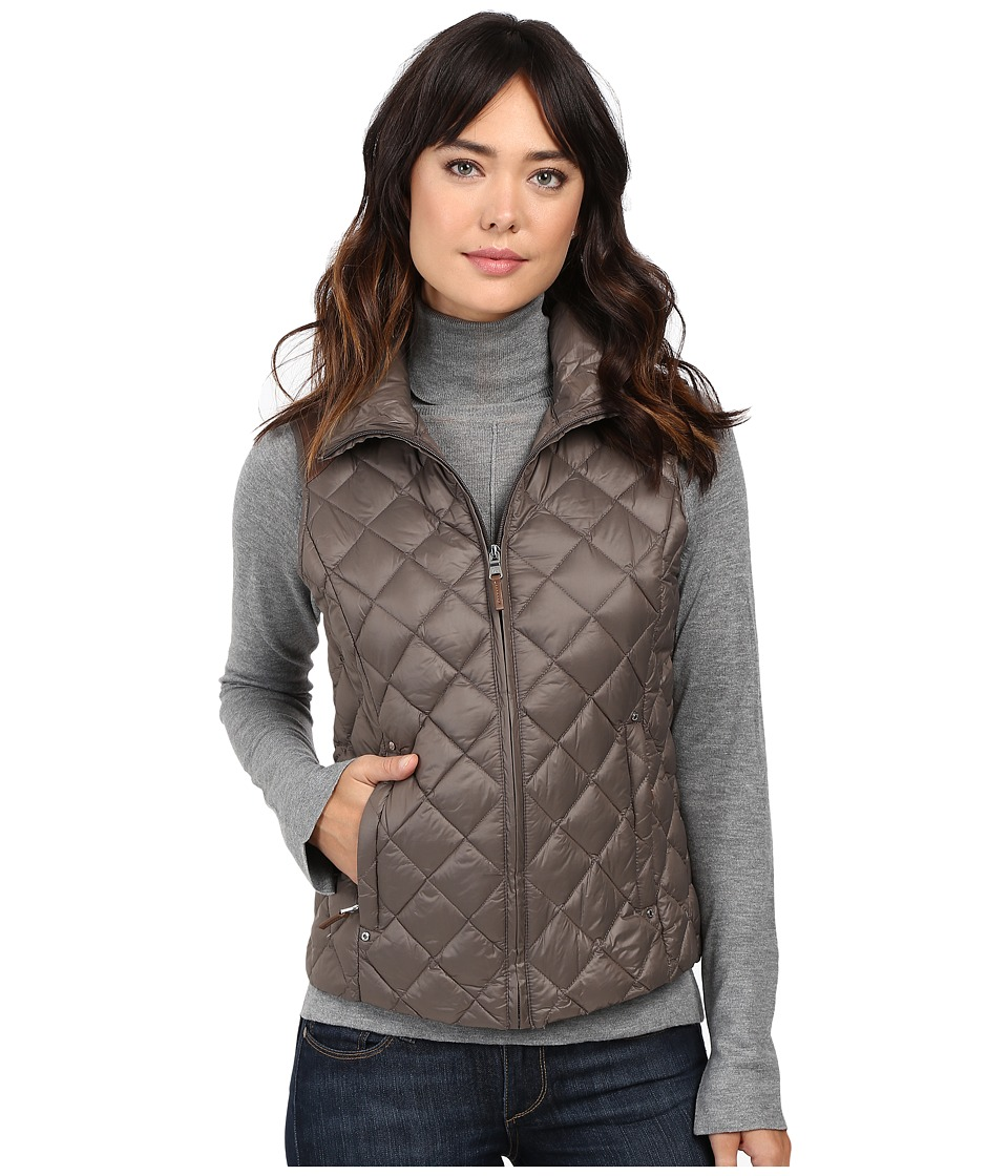 LAUREN Ralph Lauren Faux Leather Shoulder Packable Vest (Clay) Women