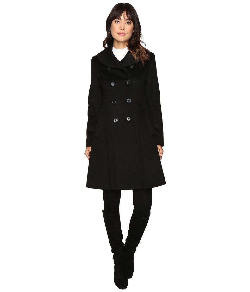 LAUREN Ralph Lauren - Fit and Flare Military (Black) Women's Coat
