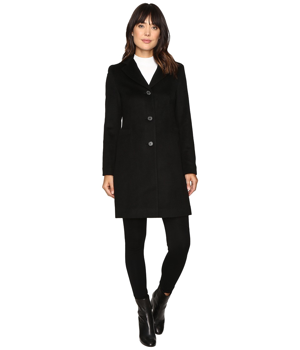 LAUREN Ralph Lauren - Welt Pocket Reefer (Black) Women's Coat