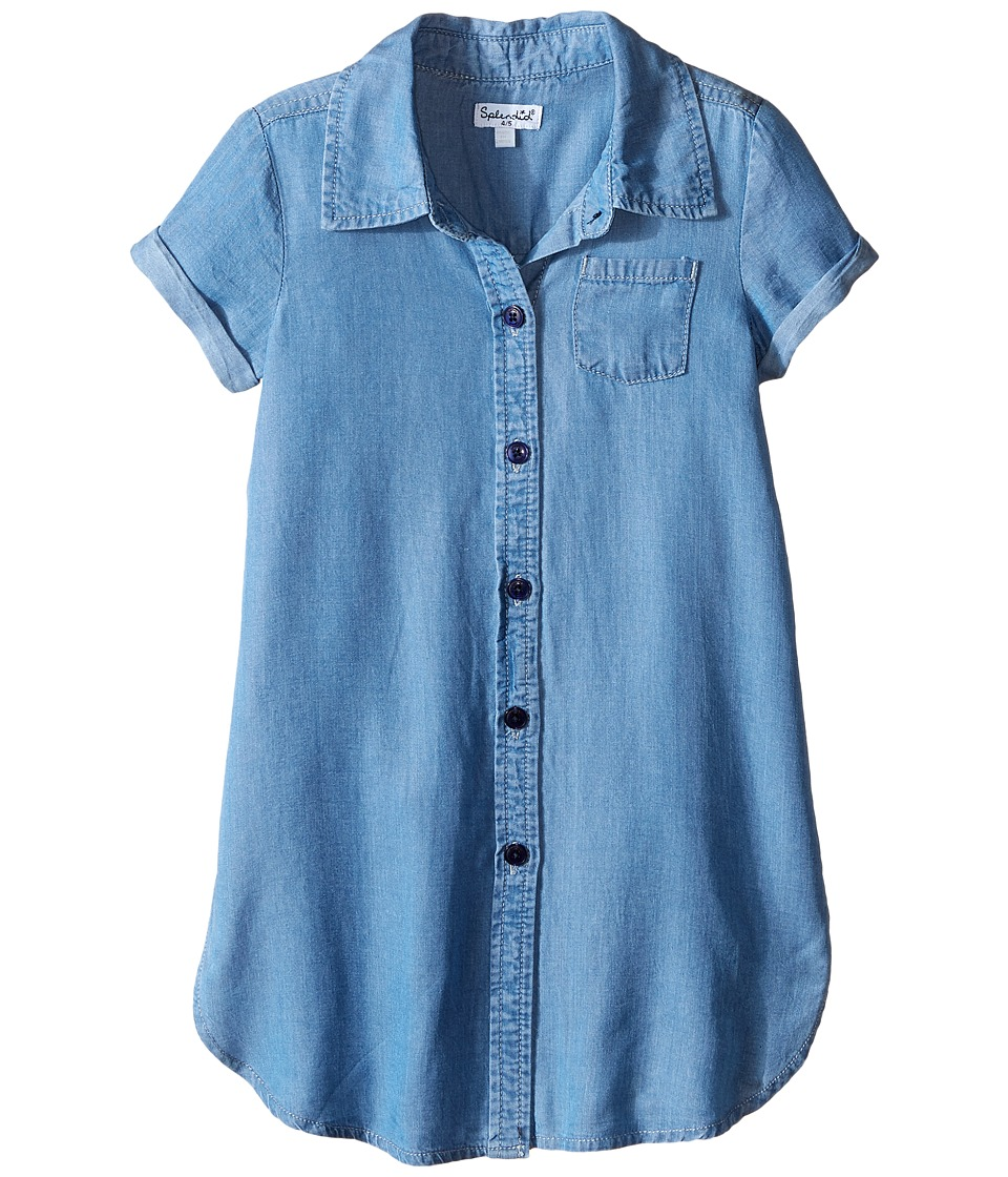 Splendid Littles - Tencel Denim Tunic (Little Kids) (Chambray) Girl's Blouse