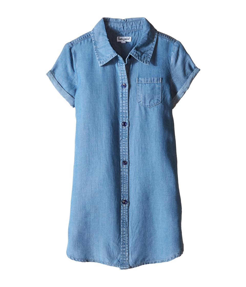 Splendid Littles - Tencel Denim Tunic (Toddler) (Chambray) Girl's Blouse