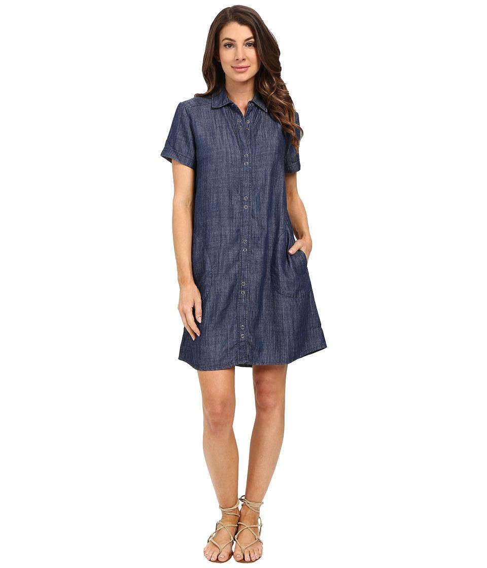 Lilla P - Chambray Short Sleeve Shirtdress (Chambray) Women's Dress