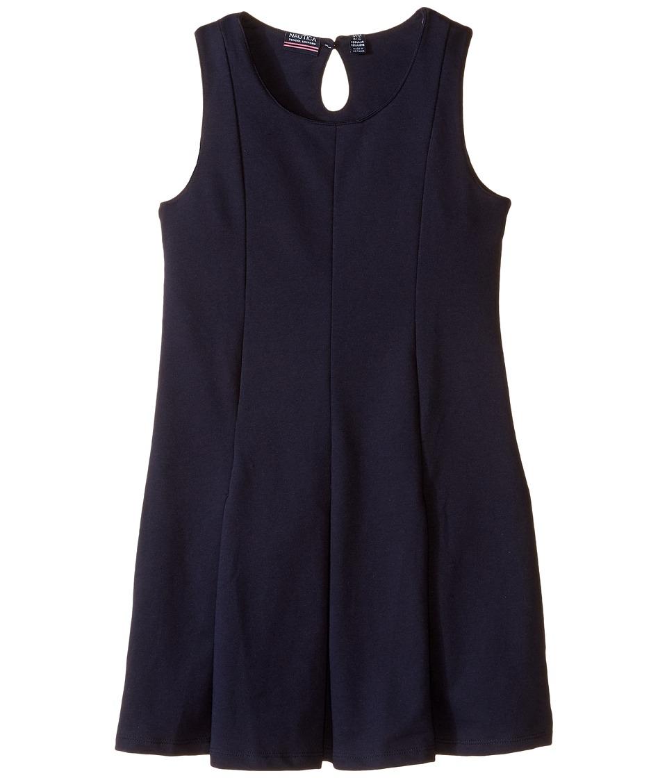 Nautica Kids - Sleeveless Pleat Dress (Big Kids) (Su Navy) Girl's Dress