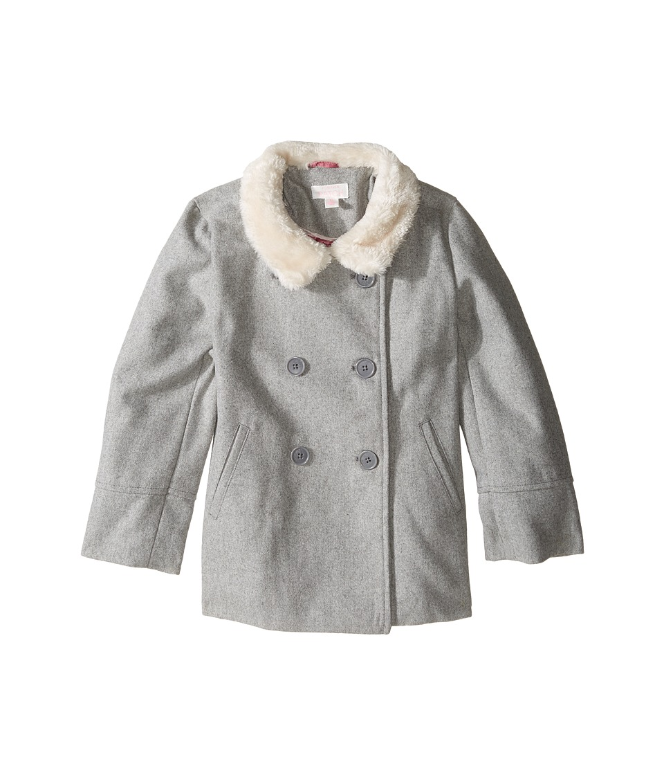 Pumpkin Patch Kids - Double Breasted Jacket (Infant/Toddler/Little Kids/Big Kids) (Grey Marle) Girl's Coat