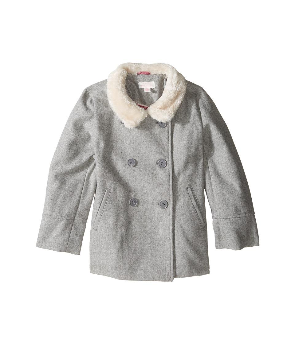Pumpkin Patch Kids - Double Breasted Jacket (Infant/Toddler/Little Kids/Big Kids) (Grey Marle) Girl's Coat