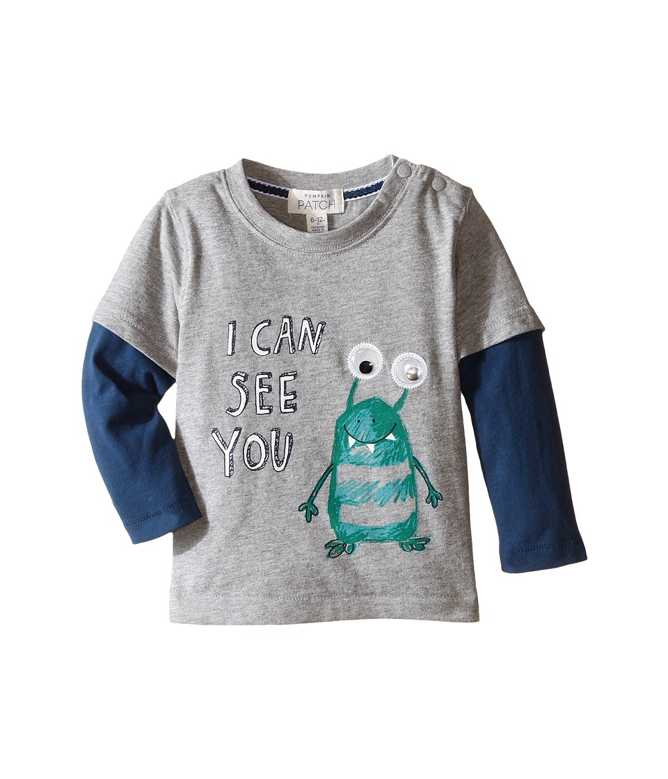 Pumpkin Patch Kids - Double Sleeve Alien Top (Infant) (Athletic Marle) Boy's T Shirt