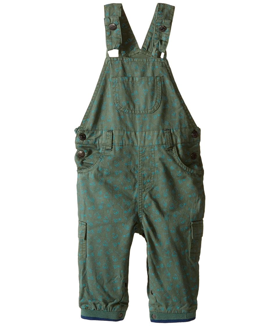 Pumpkin Patch Kids - Truck All Over Print Jeans (Infant) (Duck Green) Boy's Overalls One Piece