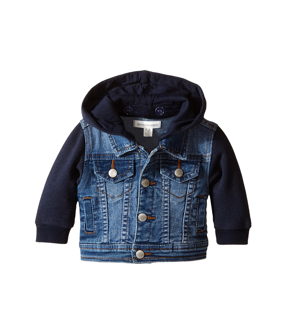 Pumpkin Patch Kids - Knit Denim Jacket (Infant) (Denim) Boy's Coat
