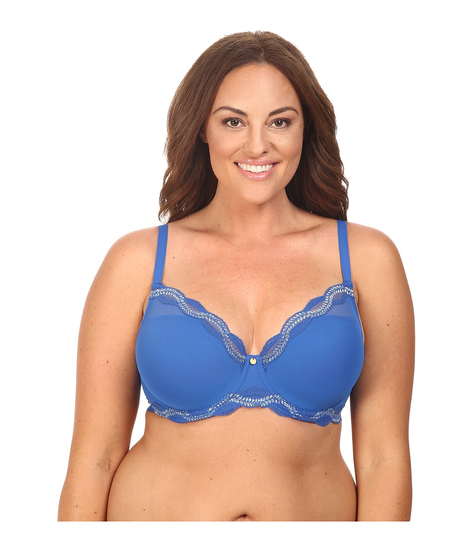 Natori - Pure Allure Full Figure Contour Underwire Bra 736099 (Nautical Blue/Silver Dusk) Women's Bra