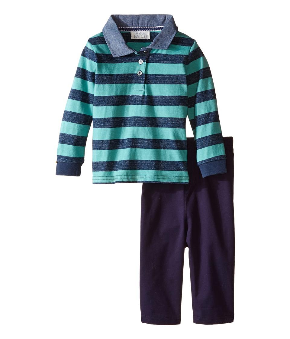 Pumpkin Patch Kids - Rugby Top Set (Infant) (Denim) Boy's Active Sets