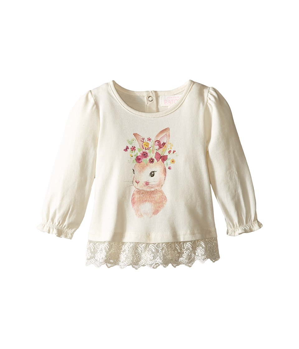 Pumpkin Patch Kids - Bunny Lace Edged Top (Infant) (French Vanilla) Girl's Clothing