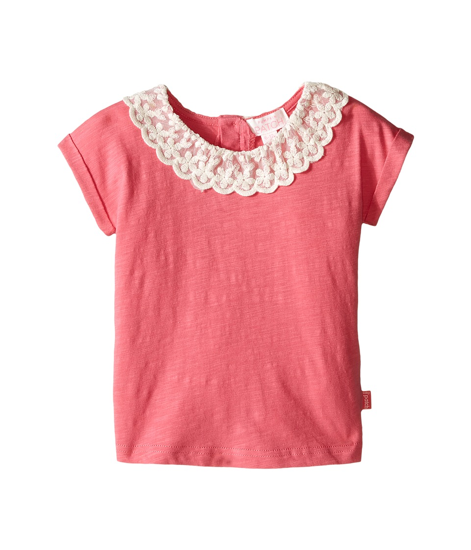 Pumpkin Patch Kids - Lacey Collar Top (Infant) (Rapture Rose) Girl's Clothing