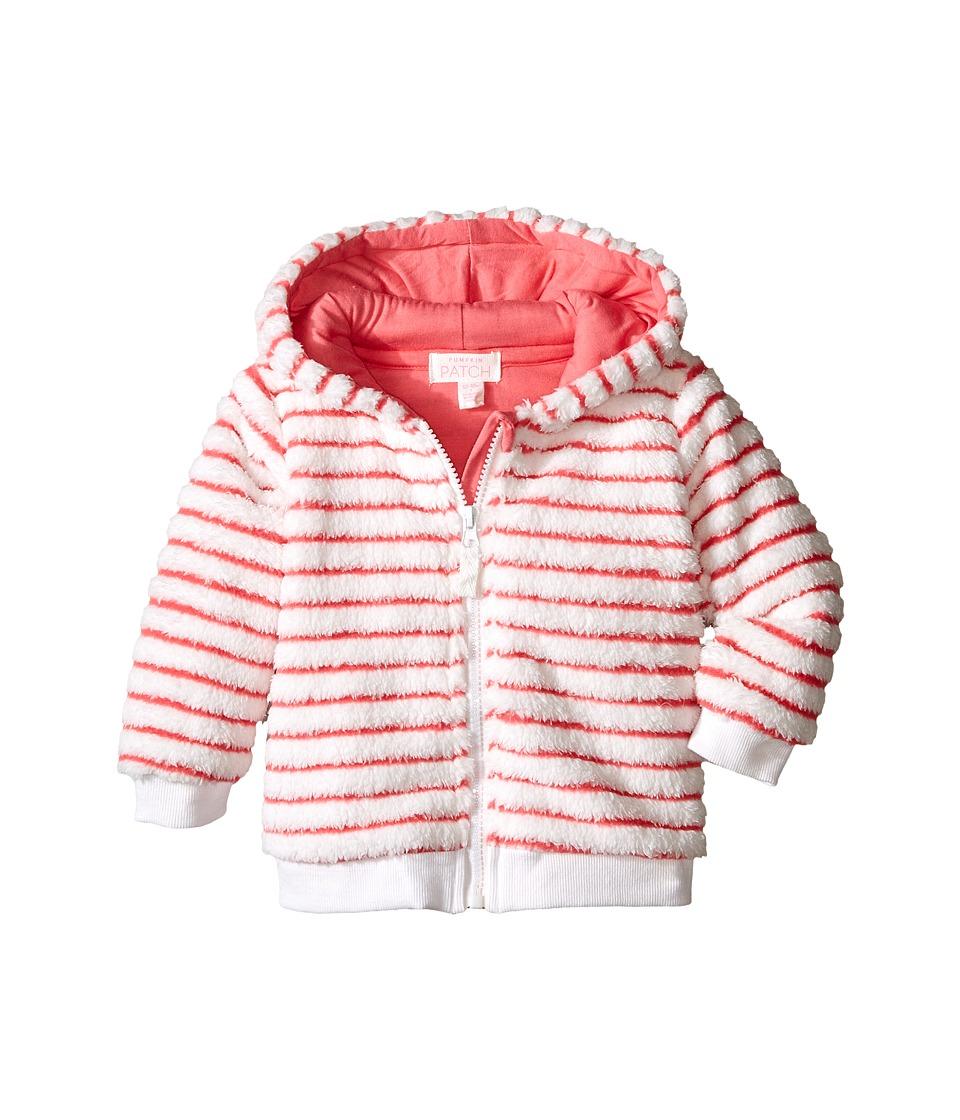 Pumpkin Patch Kids - Striped Fluffy Jacket (Infant) (Raspberry Fizz) Girl's Coat