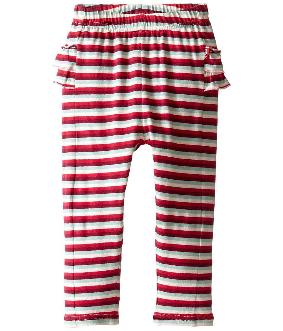 Pumpkin Patch Kids - Ruffle Stripe Leggings (Infant) (Raspberry Fizz) Girl's Casual Pants