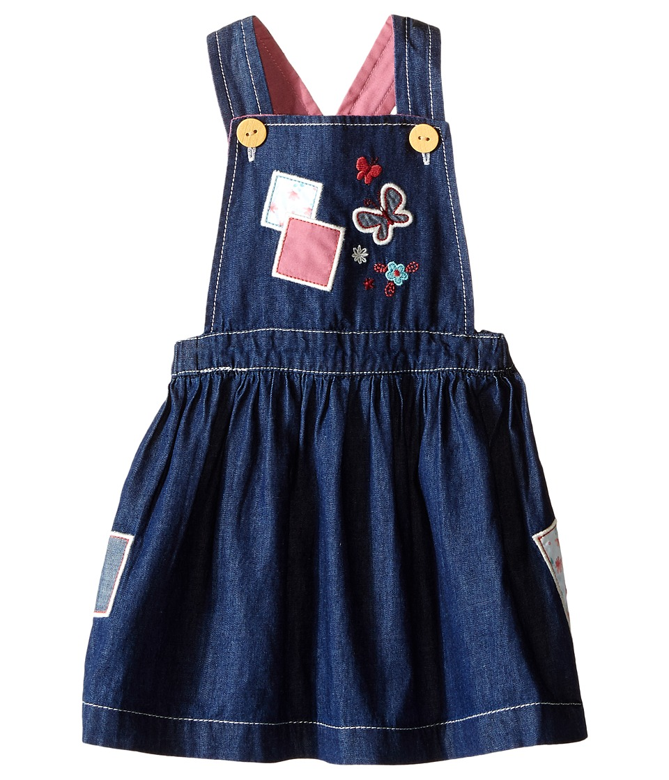 Pumpkin Patch Kids - Patchwork Denim Pinnie (Infant) (Denim) Girl's Dress