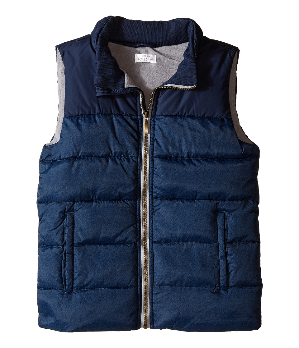 Pumpkin Patch Kids - Eclipse Puffer Vest (Big Kids) (Eclipse Blue) Boy's Vest