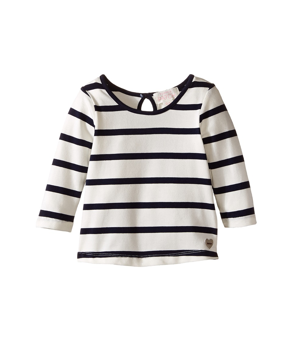 Pumpkin Patch Kids - Stripe Crew Neck Long Sleeve Top (Infant/Toddler/Little Kids/Big Kids) (French Vanilla) Girl's Clothing
