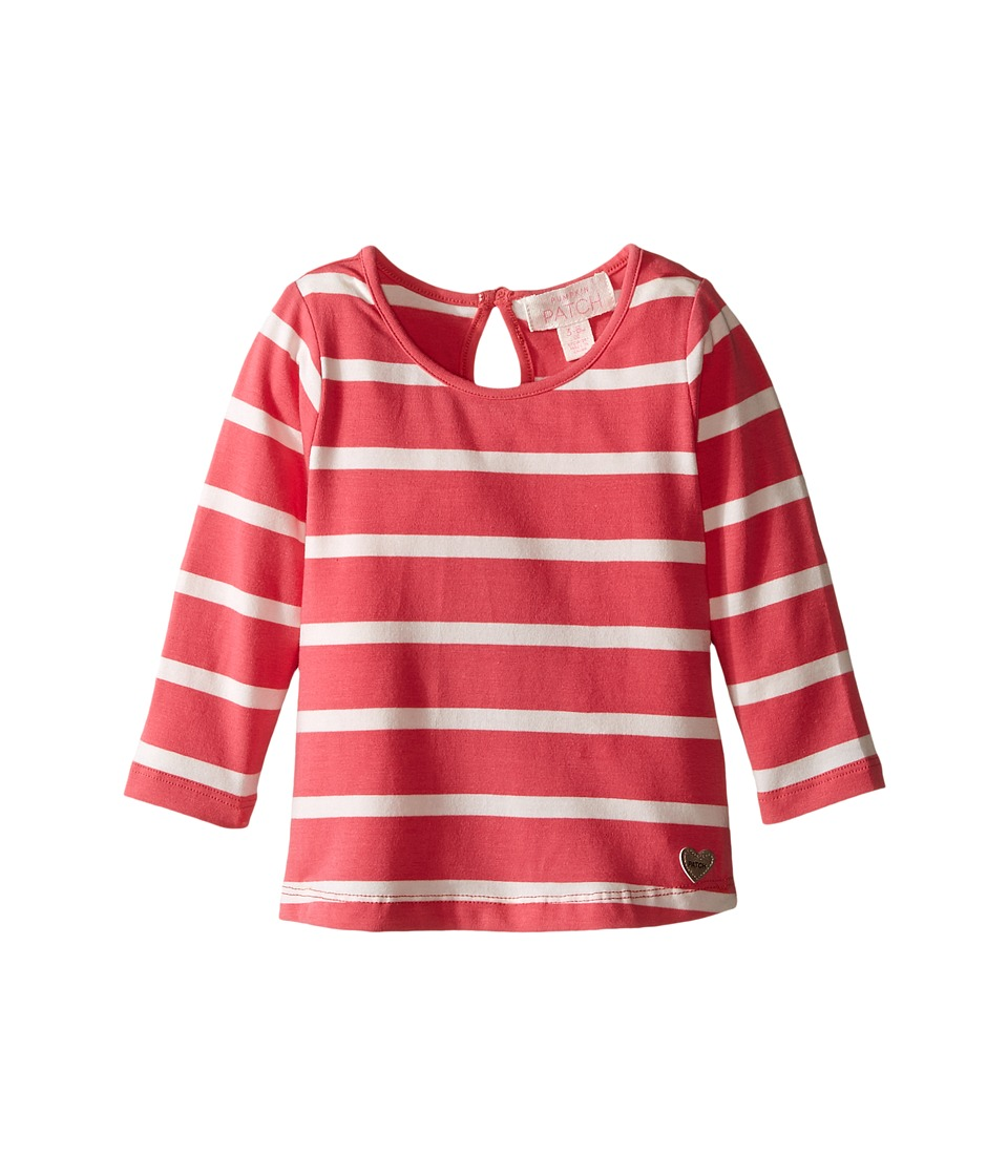 Pumpkin Patch Kids - Stripe Crew Neck Long Sleeve Top (Infant/Toddler/Little Kids/Big Kids) (Rapture Rose) Girl's Clothing