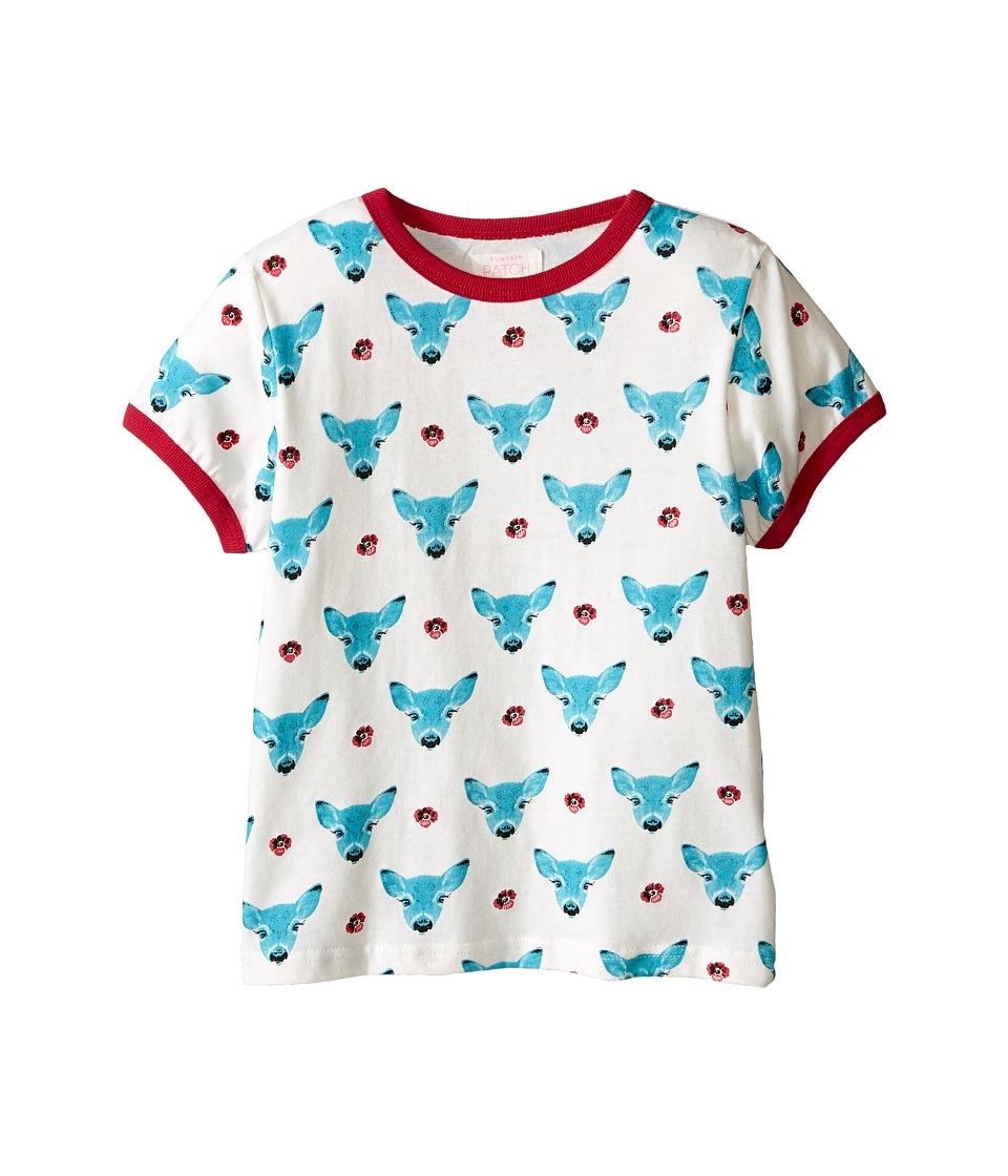 Pumpkin Patch Kids - Short Sleeve Deer Tee (Little Kids/Big Kids) (French Vanilla) Girl's T Shirt