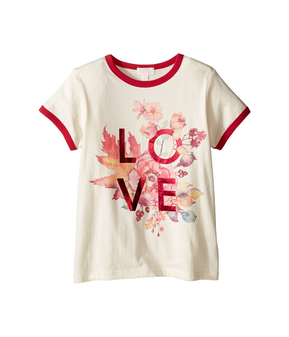 Pumpkin Patch Kids - Floral Love Tee (Little Kids/Big Kids) (French Vanilla) Girl's T Shirt