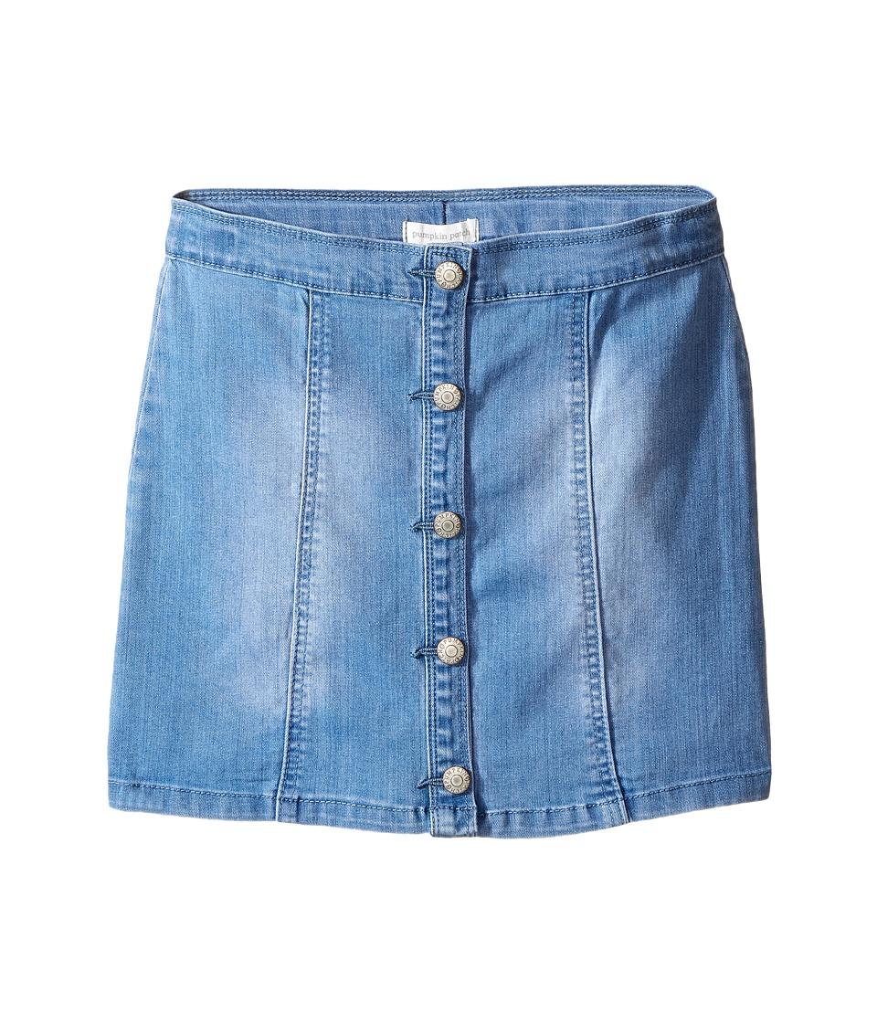 Pumpkin Patch Kids - Denim Knit Chelsea Skirt (Little Kids/Big Kids) (Denim) Girl's Skirt