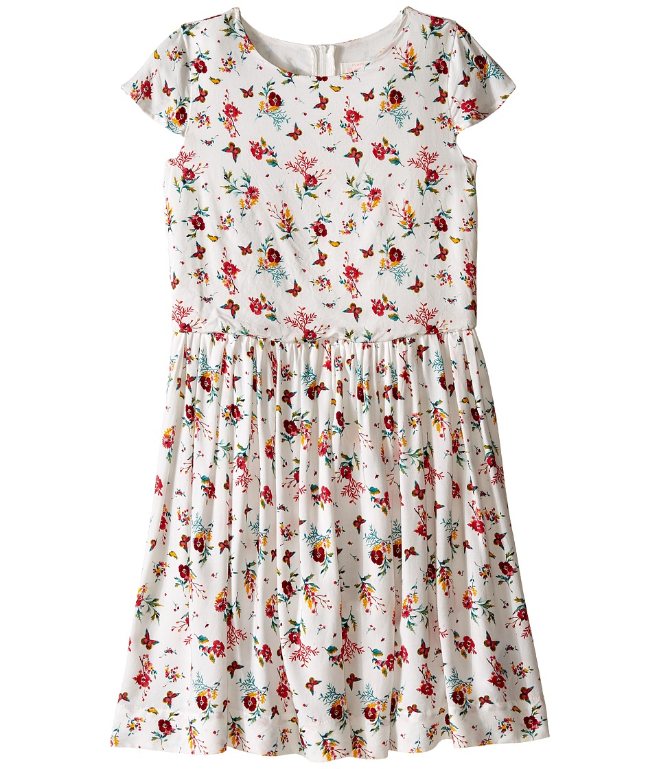 Pumpkin Patch Kids - Floral Skater Dress (Little Kids/Big Kids) (French Vanilla) Girl's Dress