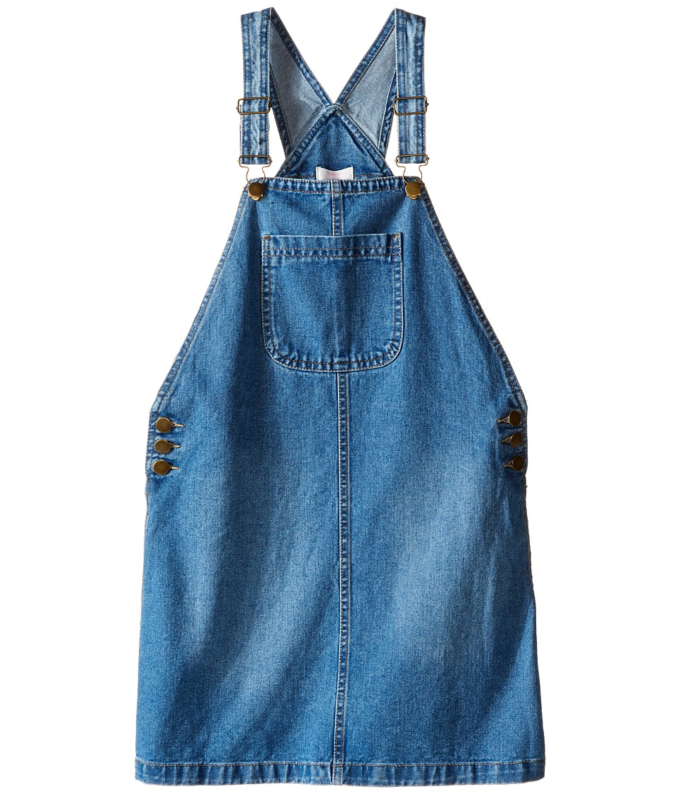 Pumpkin Patch Kids - Denim Pinafore Dress (Little Kids/Big Kids) (Denim) Girl's Dress