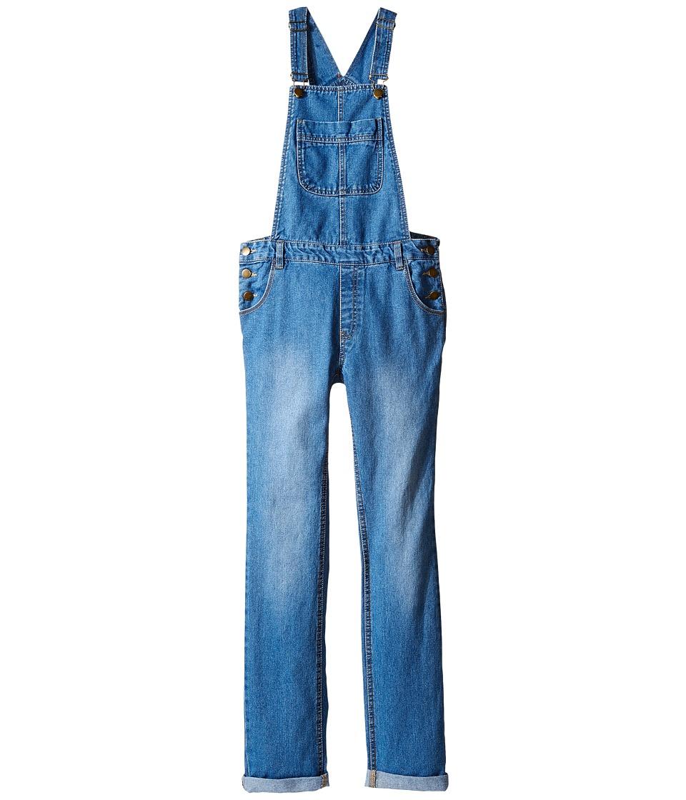 Pumpkin Patch Kids - Denim Jeans (Little Kids/Big Kids) (Denim) Girl's Overalls One Piece