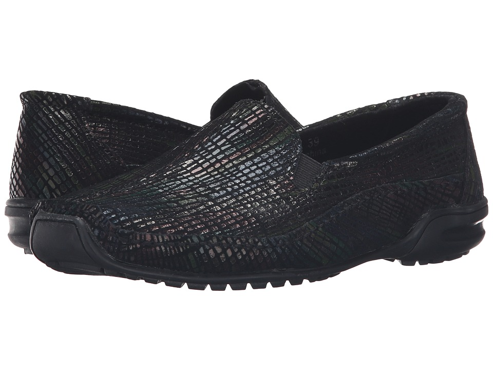 bernie mev. - Pam (Dark Multi Print) Women's Slip on Shoes