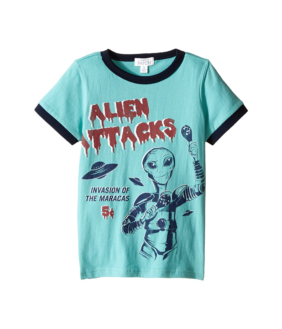 Pumpkin Patch Kids - Alien Ringer Tee (Infant/Toddler/Little Kids/Big Kids) (Canton Green) Boy's T Shirt