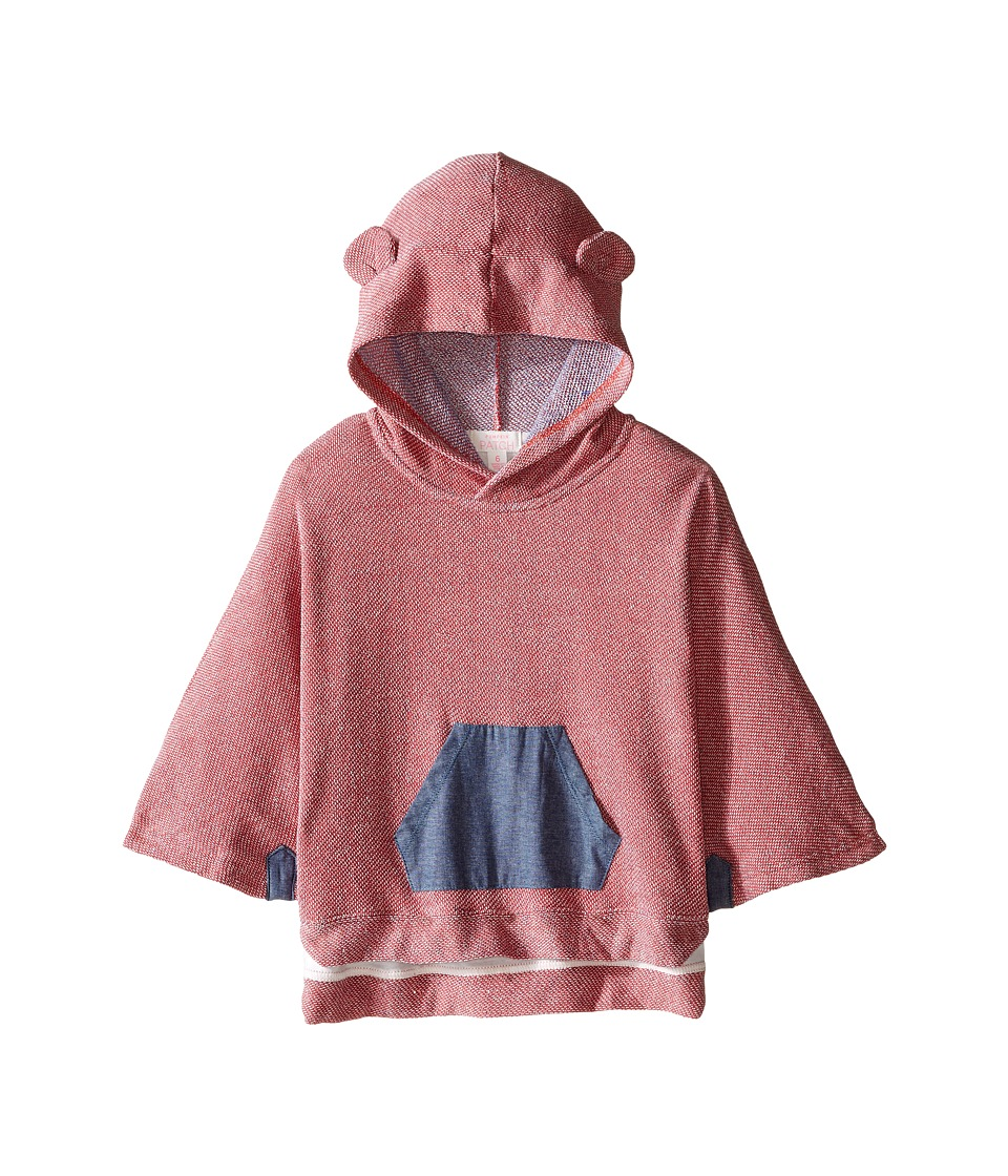 Pumpkin Patch Kids - Denim Trim Cape (Infant/Toddler/Little Kids/Big Kids) (Raspberry Fizz) Girl's Clothing