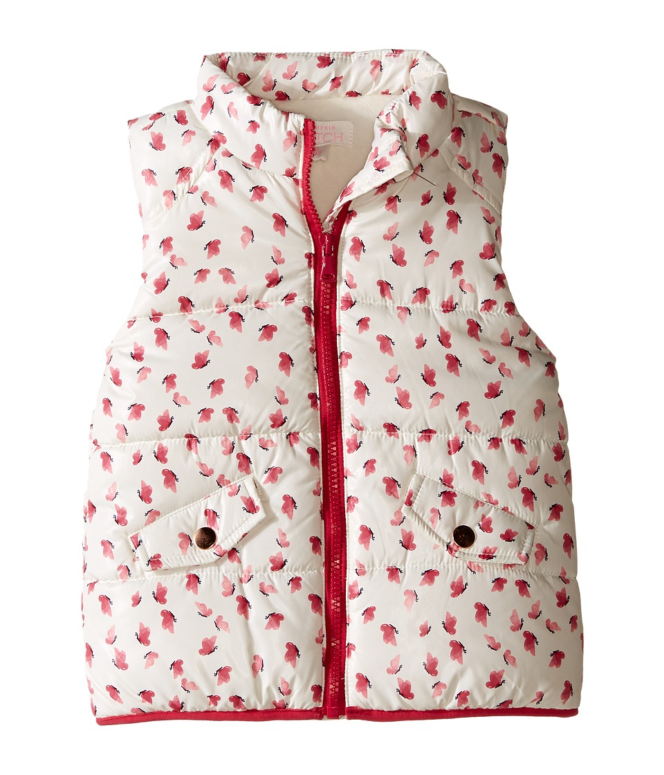 Pumpkin Patch Kids - Butterfly Print Padded Vest (Infant/Toddler/Little Kids/Big Kids) (French Vanilla) Girl's Vest