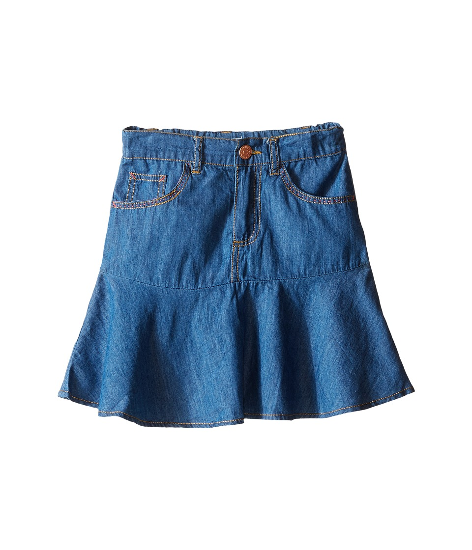 Pumpkin Patch Kids - Peplum Denim Skirt (Infant/Toddler/Little Kids/Big Kids) (Denim) Girl's Skirt
