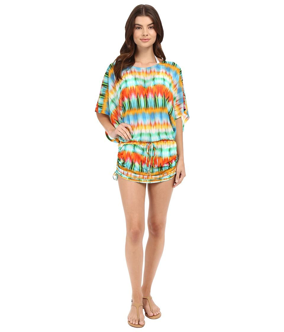 Luli Fama - Ocean Whispers South Beach Dress Cover-Up (Multicolor) Women's Swimwear