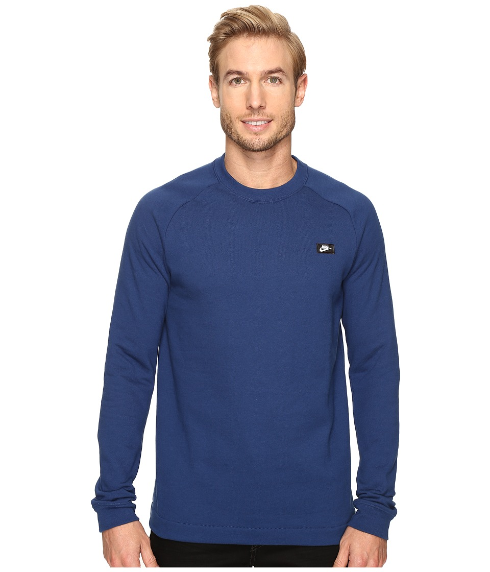 Nike - Sportswear Modern Crew (Coastal Blue) Men's Long Sleeve Pullover