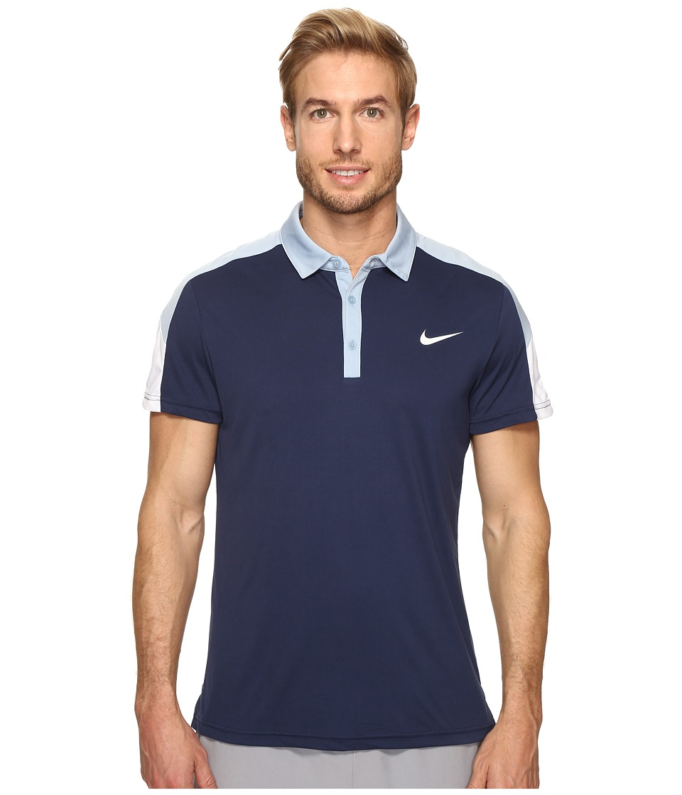 Nike - Team Court Polo (Midnight Navy/Blue Grey/White/White) Men's Short Sleeve Pullover