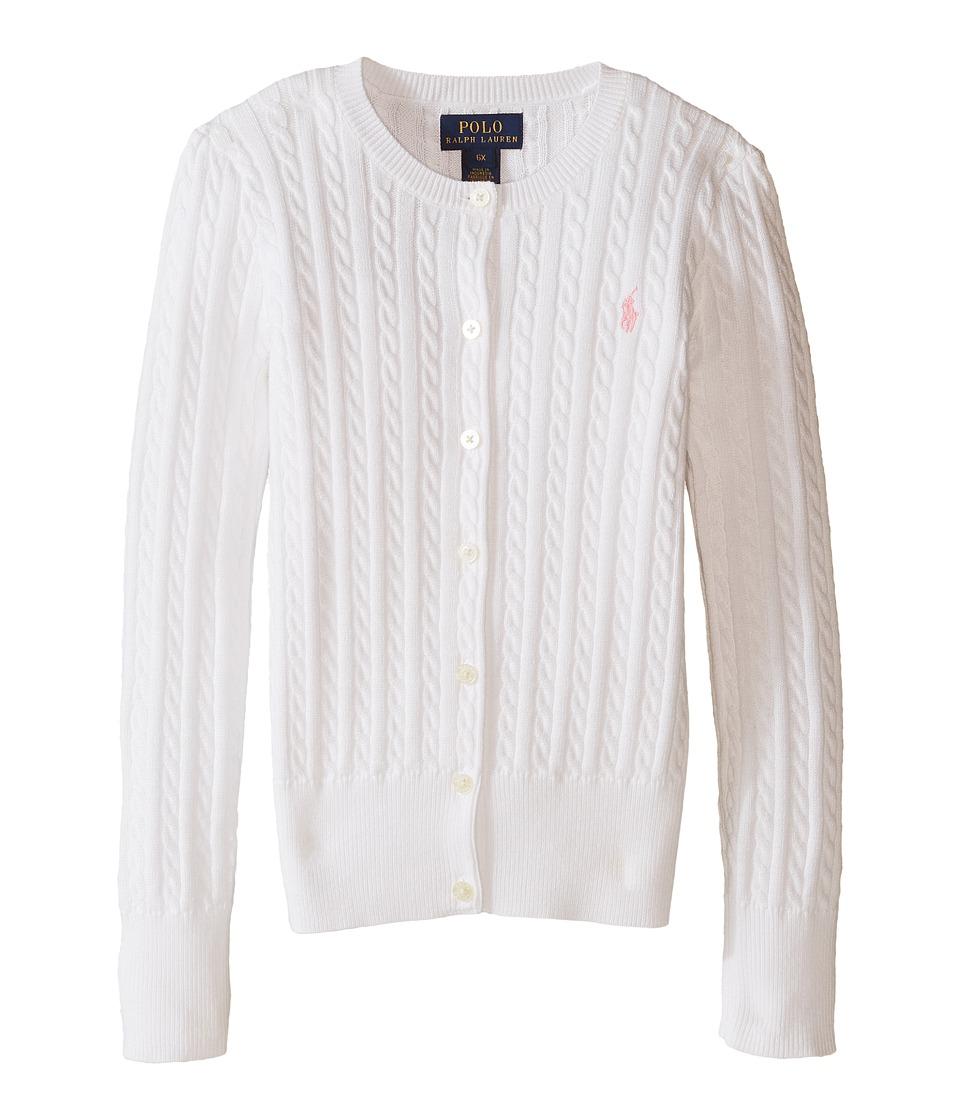 Polo Ralph Lauren Kids - Mini Cable Sweater (Little Kids) (White) Girl's Sweater