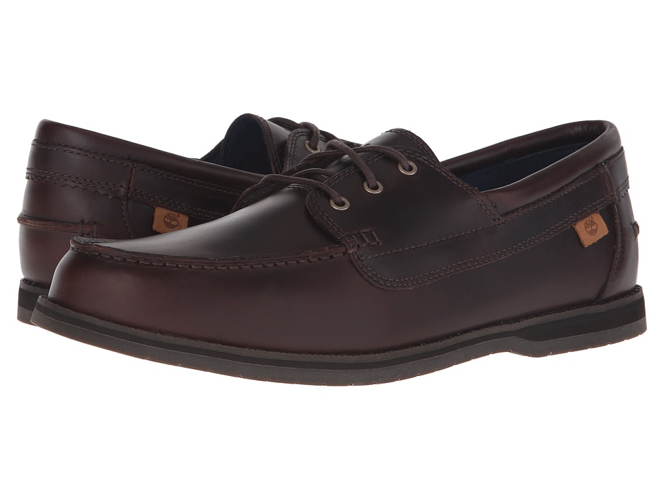 Timberland - Alton Bay 3 Eye Boat Shoe (Brown Leather) Men's Shoes