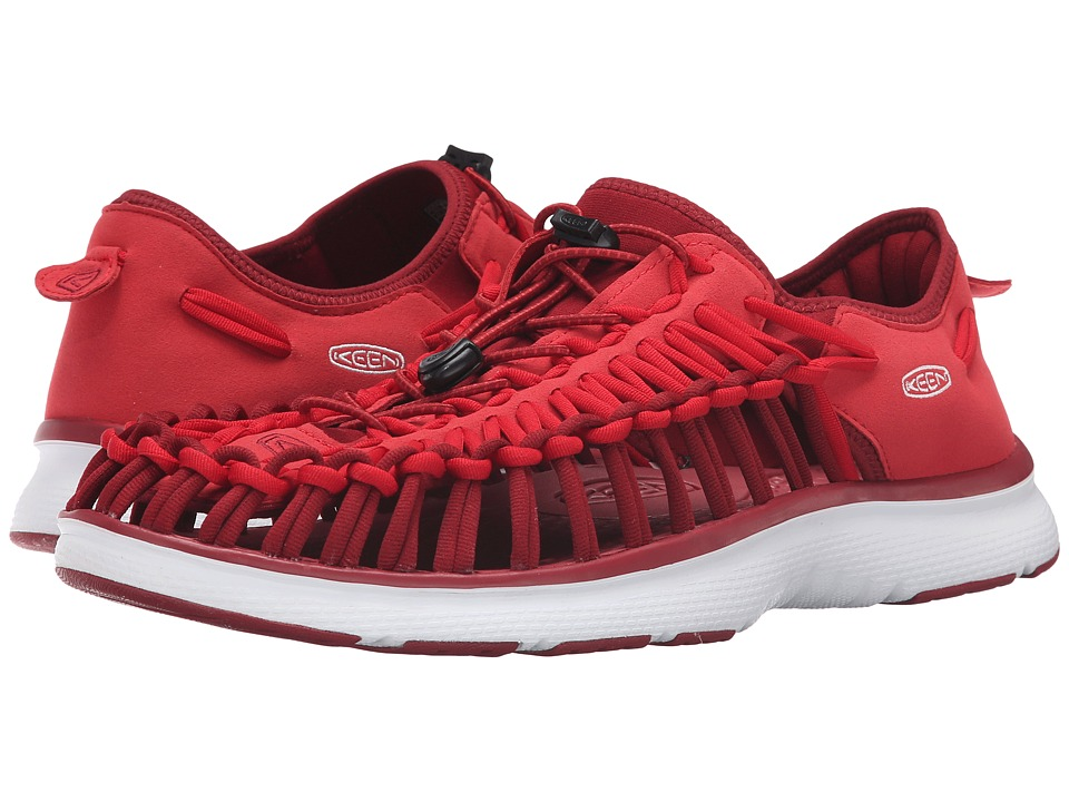 Keen - Uneek O2 (Racing Red/White) Men's Shoes