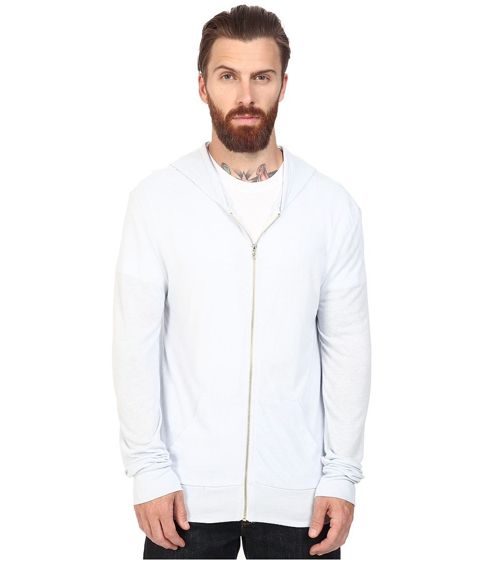 Alternative - L/S Zip Hoodie (Eco Glacier Blue) Men's Sweatshirt