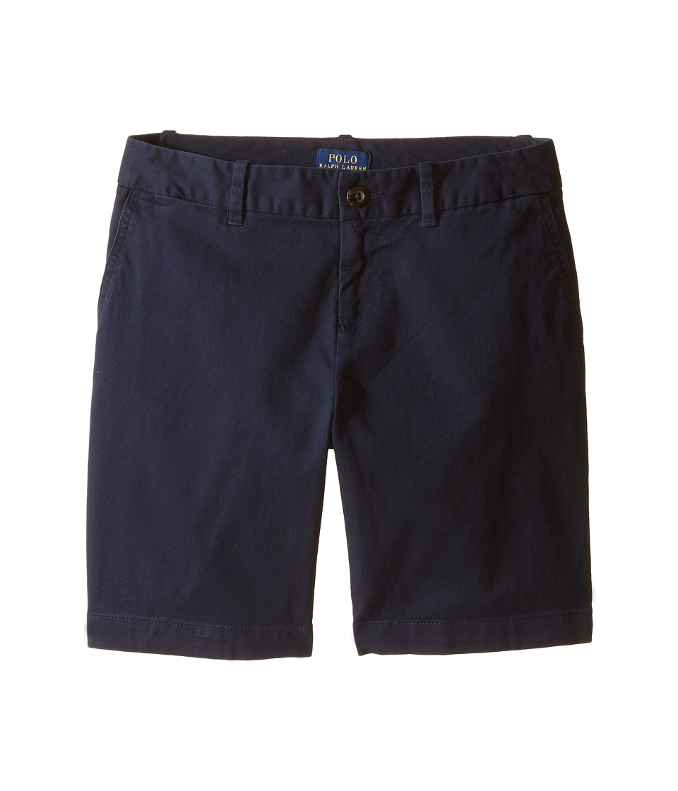 Polo Ralph Lauren Kids - Chino Bermuda Shorts (Little Kids/Big Kids) (Aviator Navy) Girl's Shorts