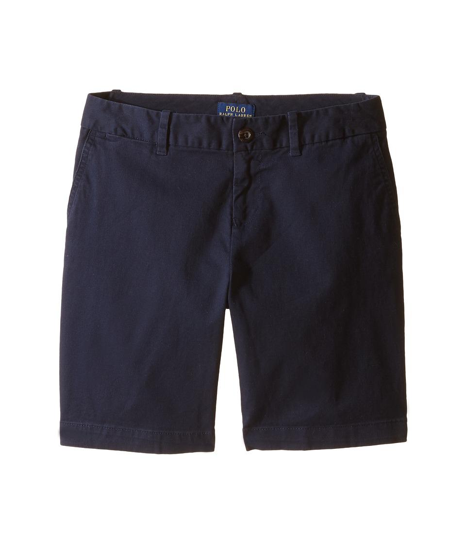 Polo Ralph Lauren Kids - Chino Bermuda Shorts (Little Kids/Big Kids) (Aviator Navy) Girl's Shorts