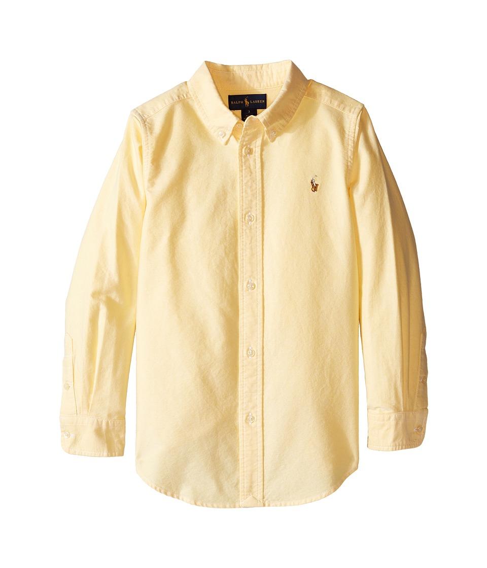 Polo Ralph Lauren Kids - Solid Oxford Shirt (Little Kids/Big Kids) (Yellow) Boy's Long Sleeve Button Up